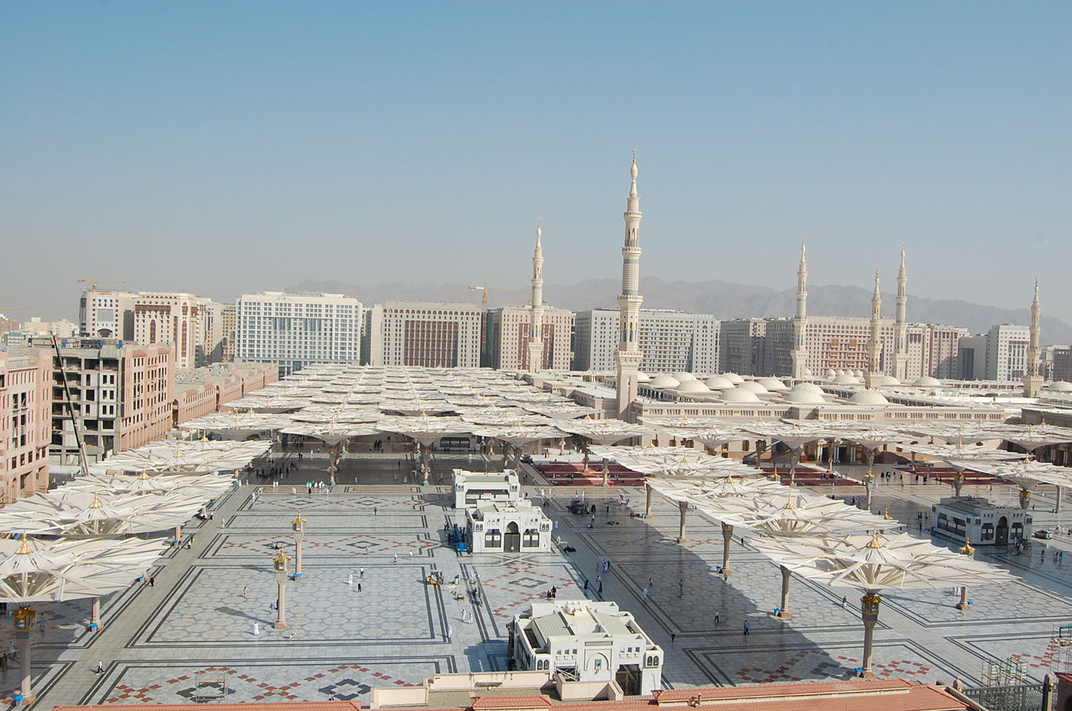 Massive five and even seven-star hotels surround the Masjid al-Nabi. The majority of pilgrims cannot afford them. Many dare not enter.